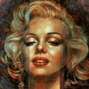 Arthur Braginsky - Marilyn Monroe, 80x80 cm, oil on canvas, 2012